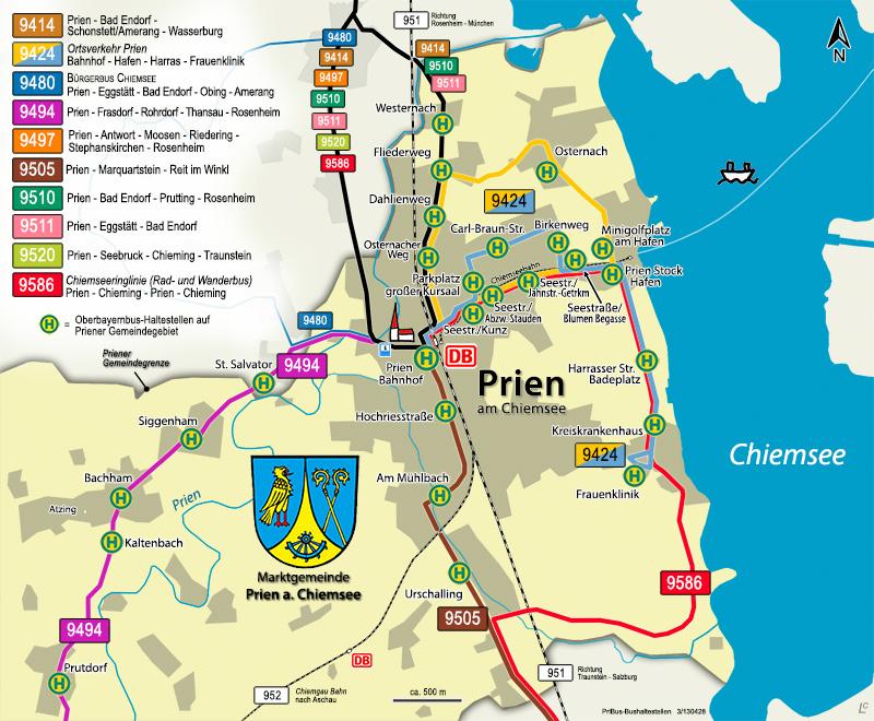 Prien Am Chiemsee Karte.Marktgemeinde Prien Am Chiemsee Busverbindungen